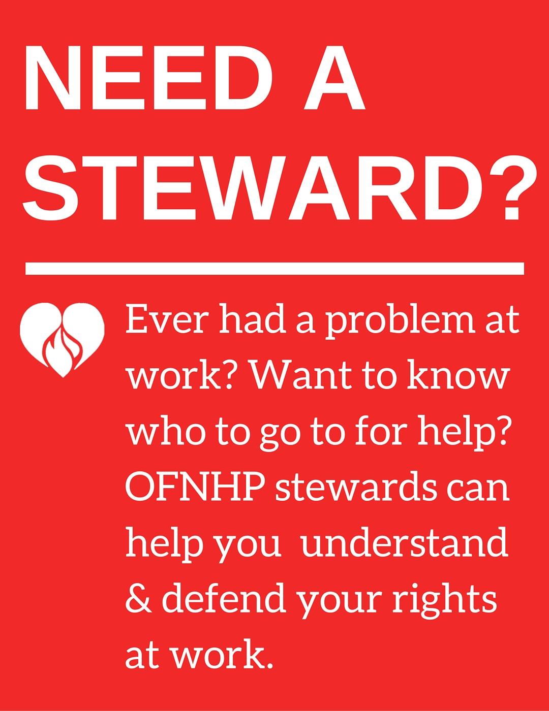 Need a Steward?